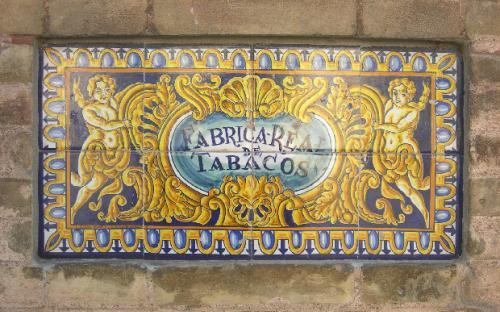 Antica insegna Fabrica Real de tabacos